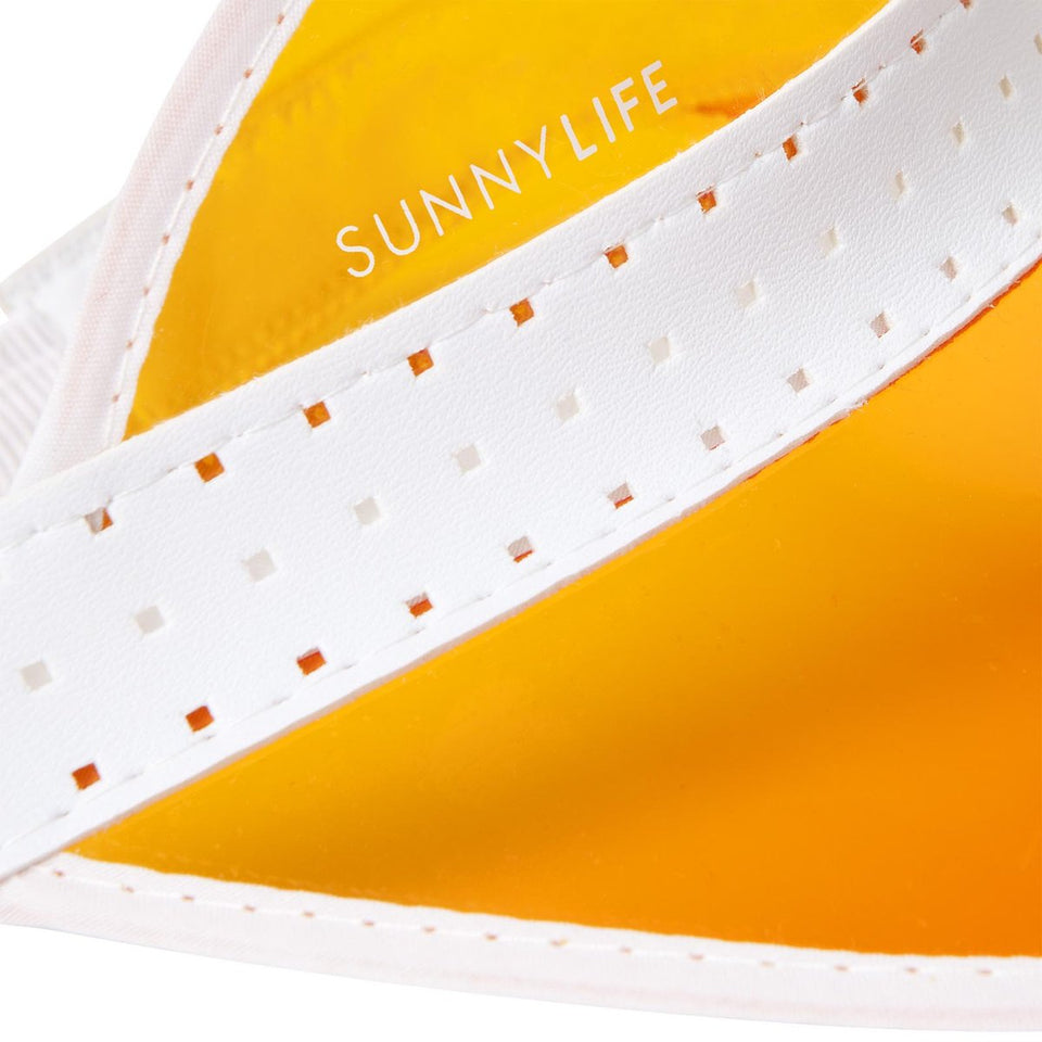 Retro Sun Visor Neon Orange