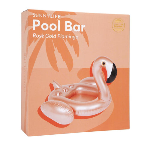 Inflatable Pool Bar Flamingo Rose Gold