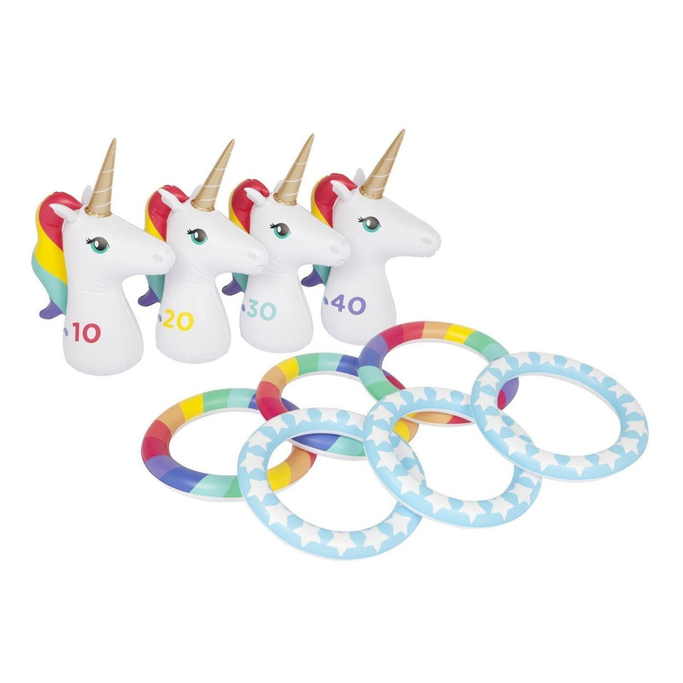 Inflatable Ring Toss Set Unicorn