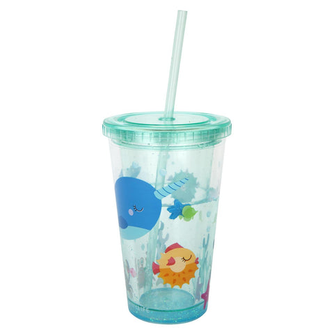Kids Glitter Tumbler Under The Sea