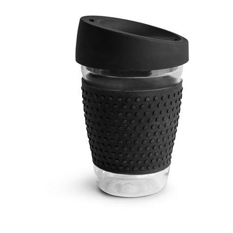 Glass Travel Mug Black
