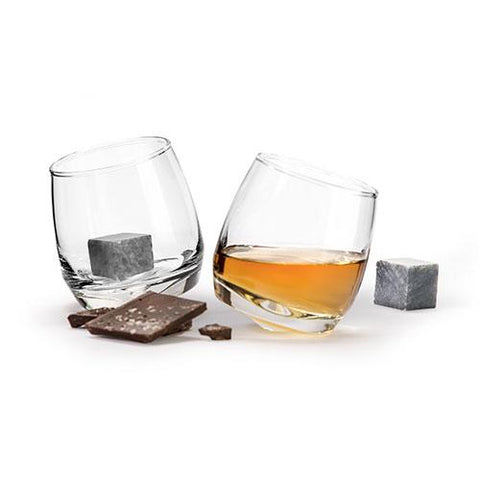 Gift Set Whiskey Glass & Stones