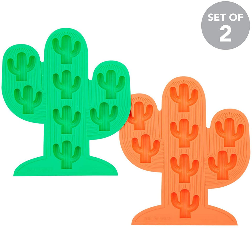 Cactus Ice Trays Green & Orange | Sunnylife