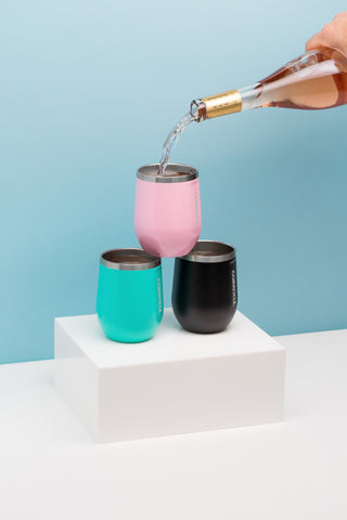 Corkcicle 12oz Stemless Turquoise