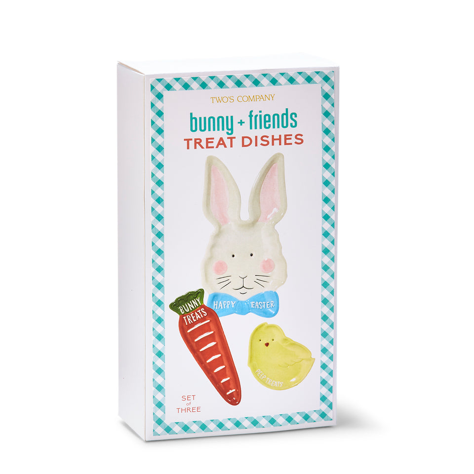 Bunny + Friends Set of 3 Tidbit Plates