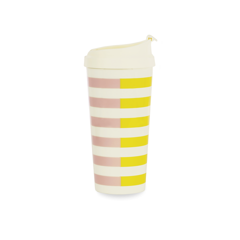 Kate Spade Travel Mug | Half Stripe