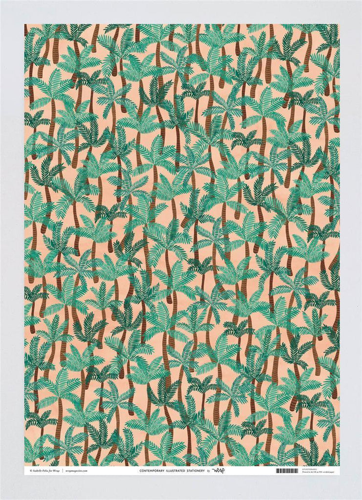 Wrapping Paper Palm Trees