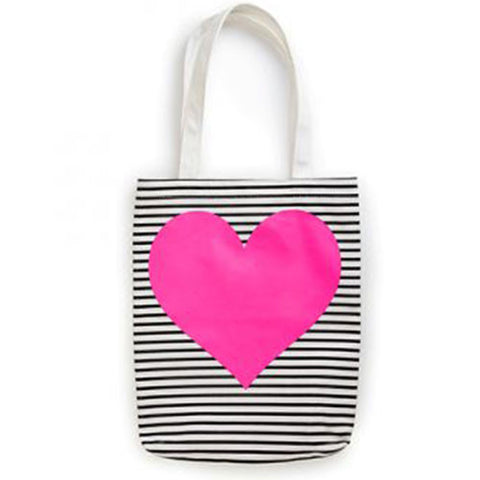 Canvas Tote Bag - Pink Heart