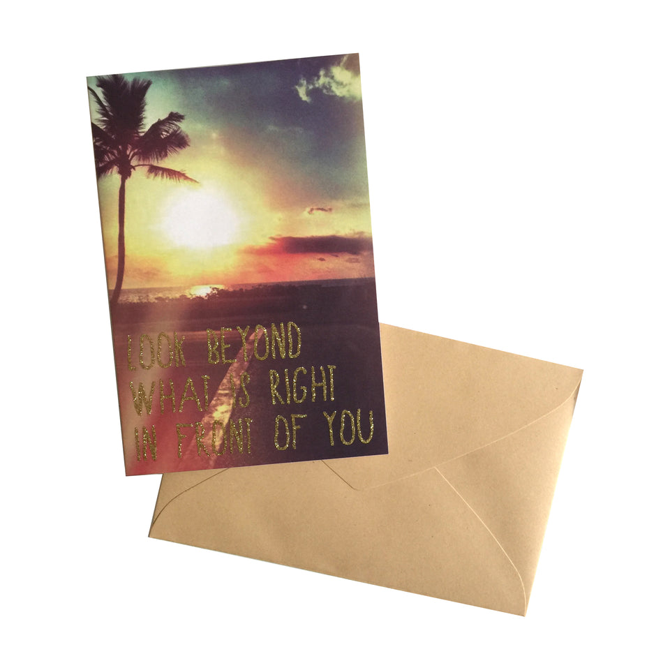 Greeting Card - Look Beyond