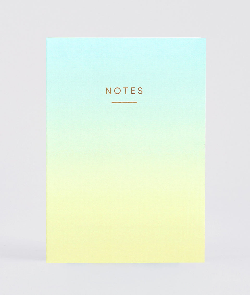 Notebook Ombre Blue Yellow | Wrap