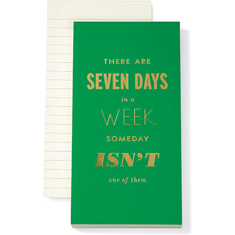 Large Notepad - Seven Days