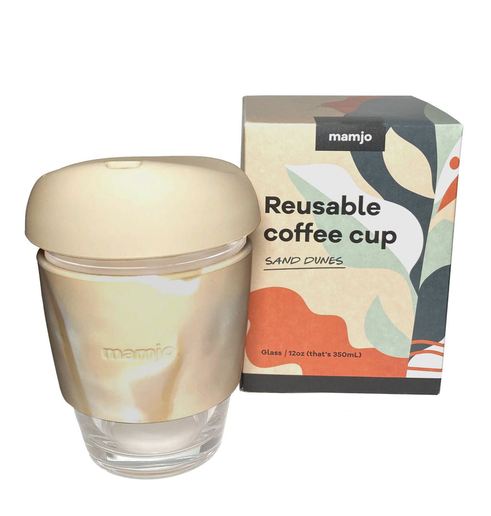 12 oz Glass Coffee Cup | Sand Dunes