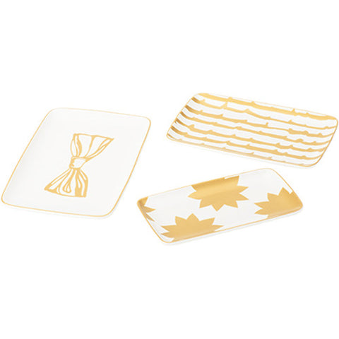 Trinket Trays - Gold Print