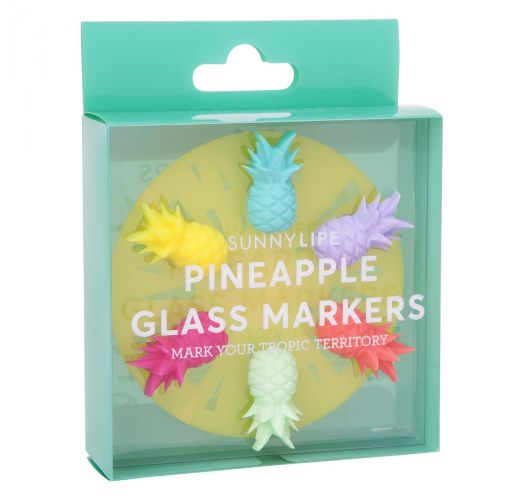 Pineapple Glass Markers | Sunnylife