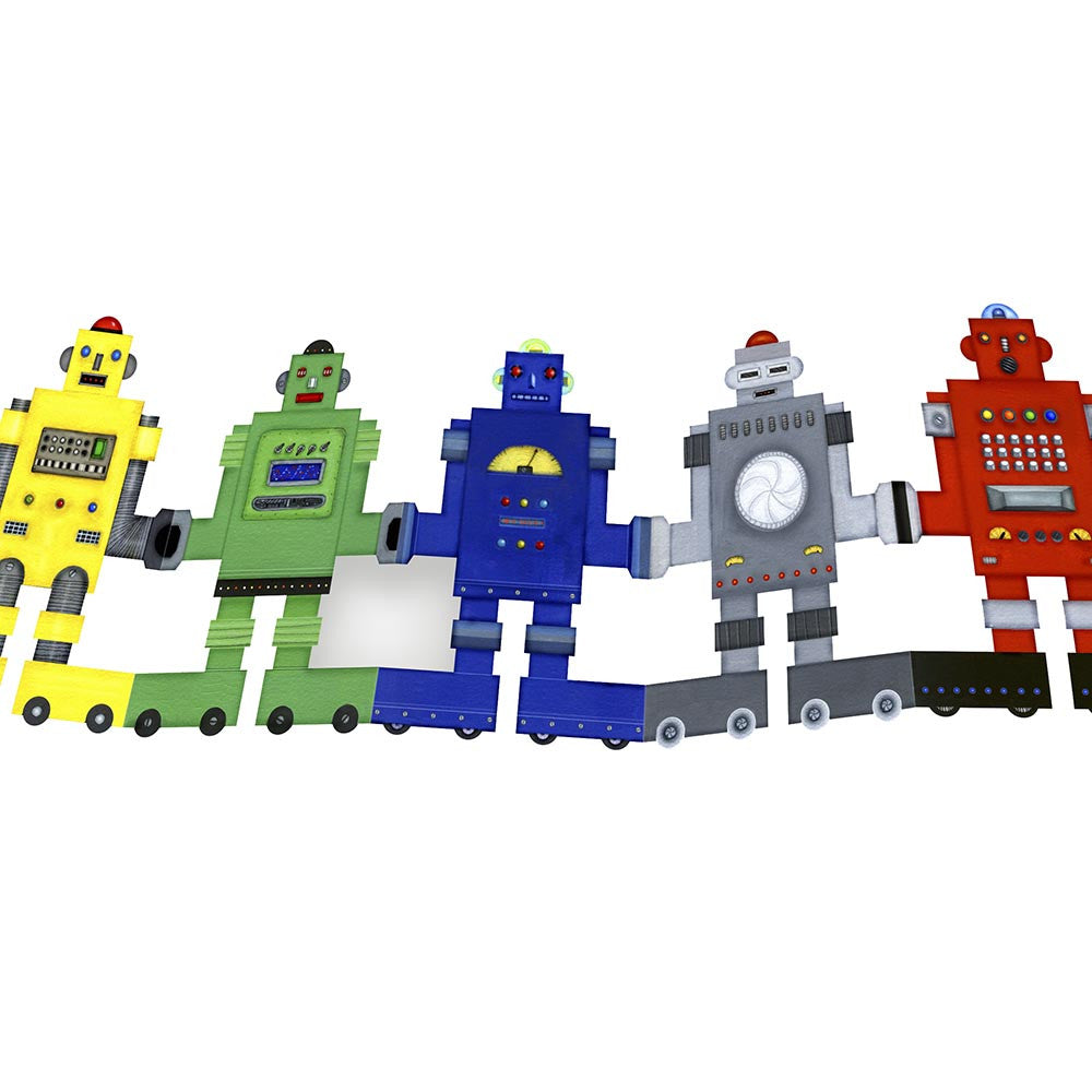 Robots Paper Bunting