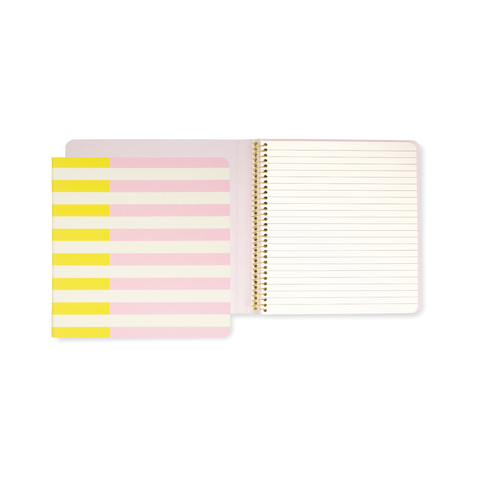 Kate Spade Spiral Notebook | Half Stripe