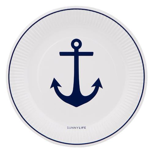 Paper Plate 12Set - Anchor | Sunnylife