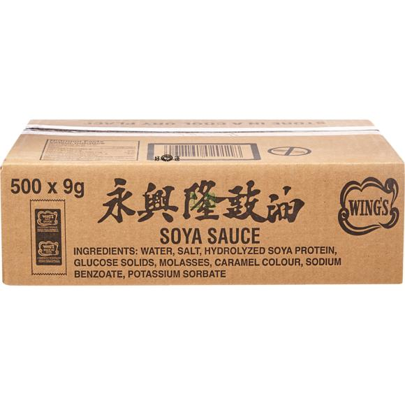 Wing's Soya Sauce Packets 500x9G/CS
