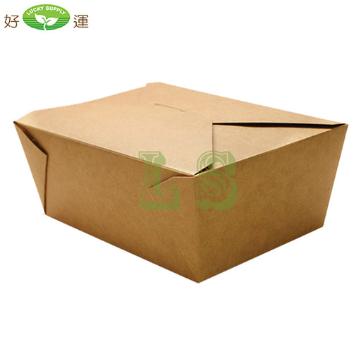 "#8 Paper Take-Out Containers 6.75"" x 5.5"" x 2.5"" - 300'/CS"