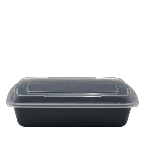 Dynasco DT-28, 28oz. Rectangular Container and Lid Combo (150 SETS) *