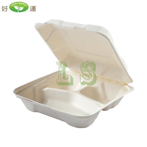 GD-773 Medium Size 3 Compartment Clamshell Container 200/CS