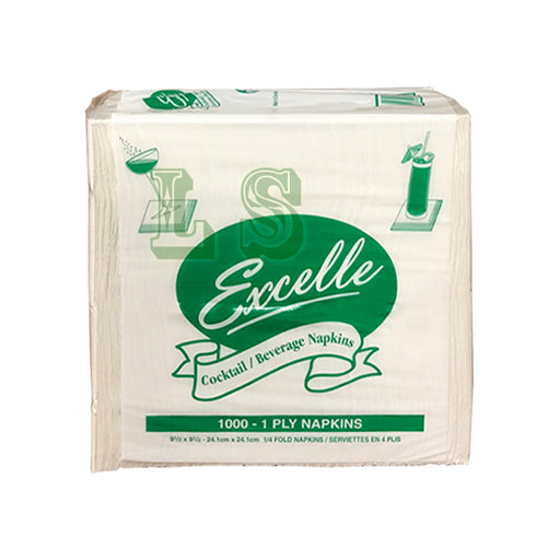 Excelle Cocktail Napkin 1 Ply  (4x1000's)  #5001