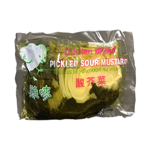 小鸡唛酸芥菜 Chicken Brand Pickled Sour Mustard (36x300G)