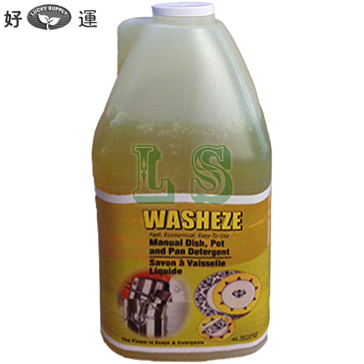 Washeze Manual Dish,Pot And Pan Detergent (4x4L)  #5104