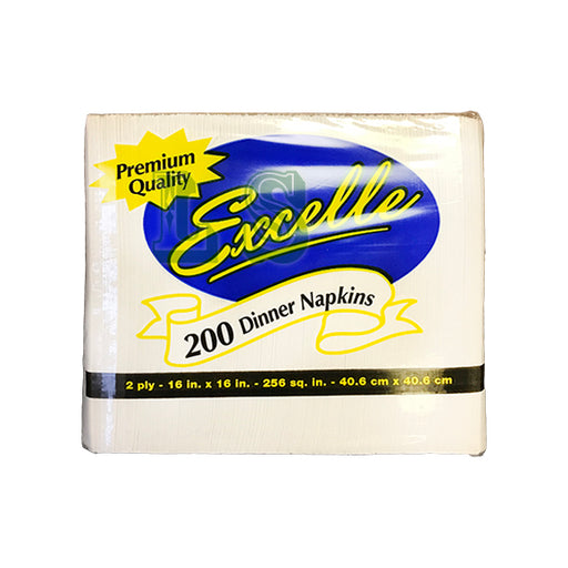 Excelle  2 Ply Dinner Napkin (15x200's)  #5022