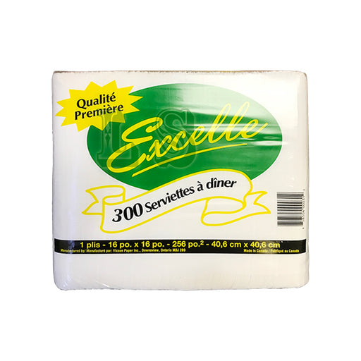 Excelle Dinner Napkin 1 Ply (10x300's)  #5013