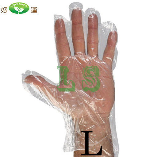 Large Size Poly Gloves (20x500's)  #4503