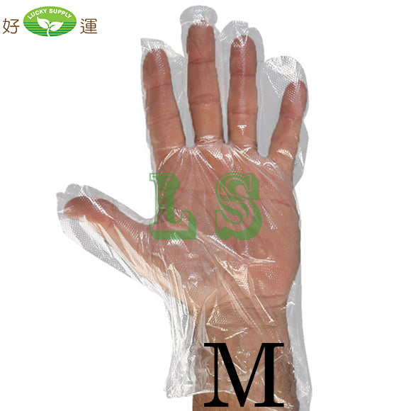 Medium Size Poly Gloves (20x500/CS)  #4502