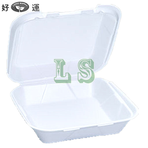 Genpak SN240 Medium Snap It Foam Hinged Dinner Container (200's)  #3213