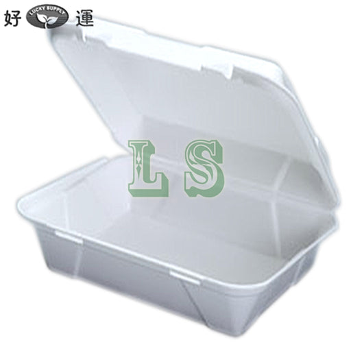 Genpak SN270 Super Jumbo Snap It Foam Hinged Dinner Container (200's)  #3219
