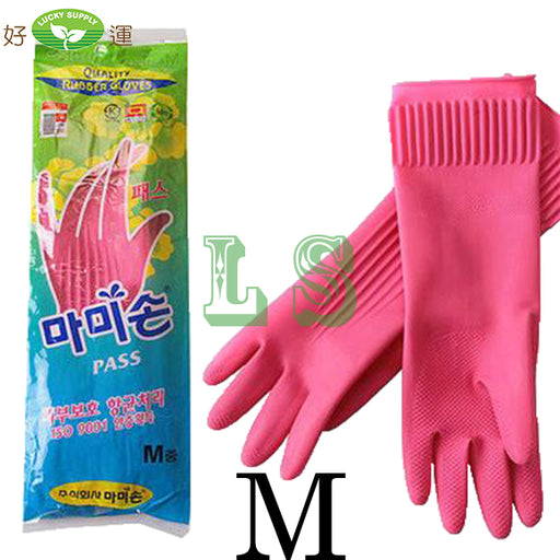 korean Rubber Glove M (Pair)  #4517