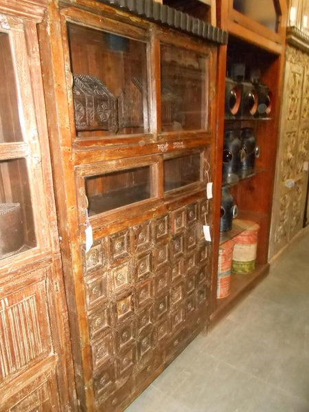 19th Century Teakwood Apothecary Cabinet