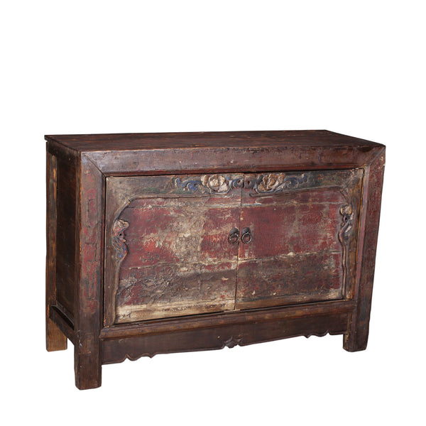 Antique Farmhouse Cabinet with Time Worn Patina