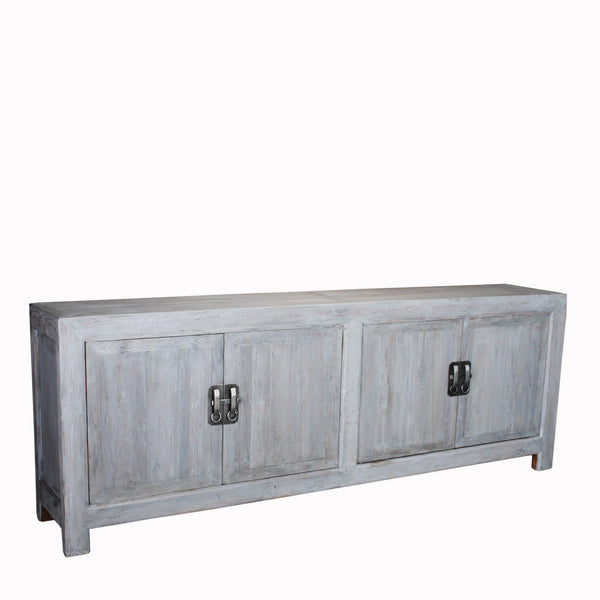 Buffet Cabinet Hand Crafted from Reclaimed Pinewood with Hand Forged Iron Hardware