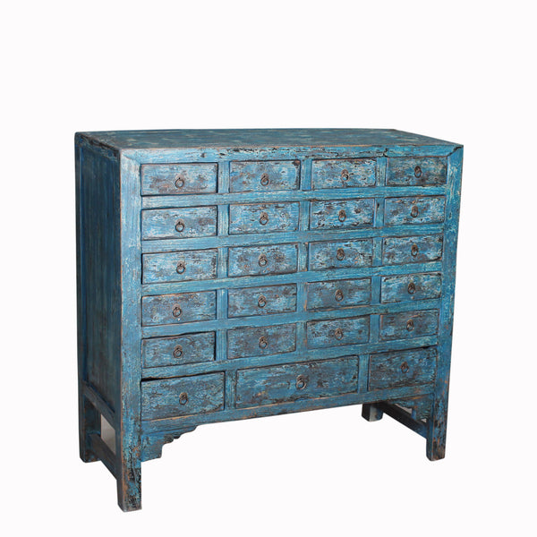 Antique 24 Drawer Apothecary Cabinet with Beautiful Time Worn Patina