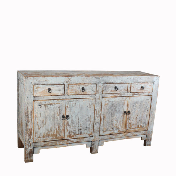 Hand Crafted Reclaimed Pine Buffet with Distressed Patina
