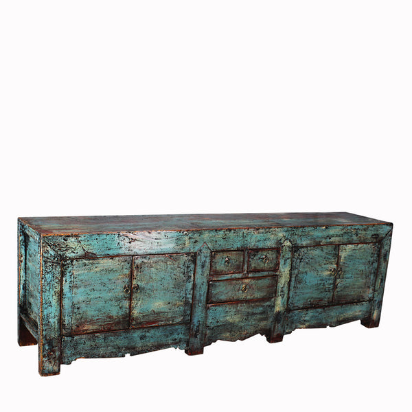 Antique Farmhouse Buffet with Distressed Patina