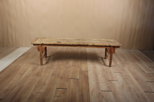 Antique Farmhouse Bench with Original Time Worn Patina