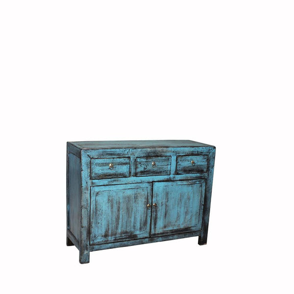 Hand Crafted Reclaimed Pinewood Cabinet with Beautiful Distressed Patina