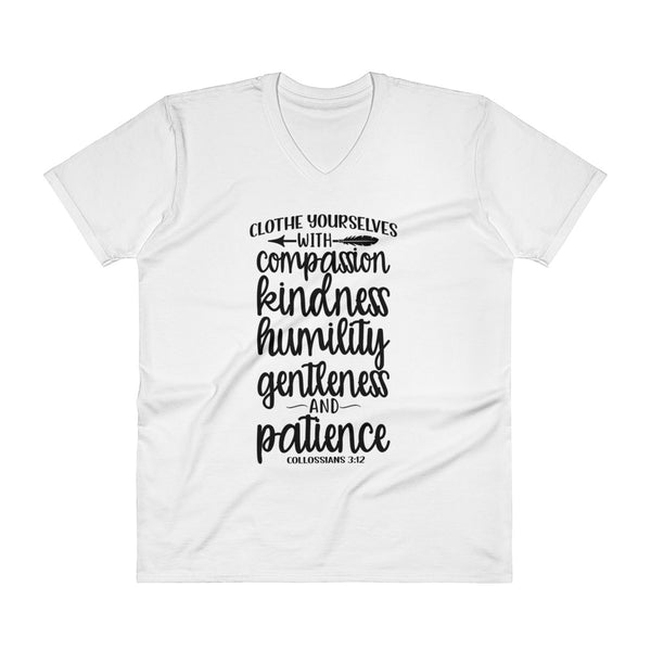Clothe Yourselves Collossians 3:12 V-Neck T-Shirt