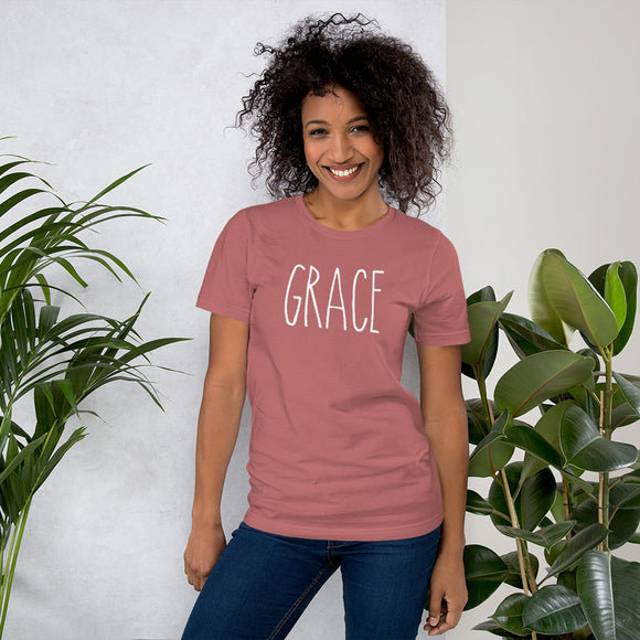 Grace Short-Sleeve T-Shirt (Mauve)