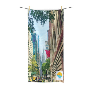 Comfort Crusade Plush & Playful Bryant Park Bath/Beach Towel - The Comfort Crusade Shopping Lounge