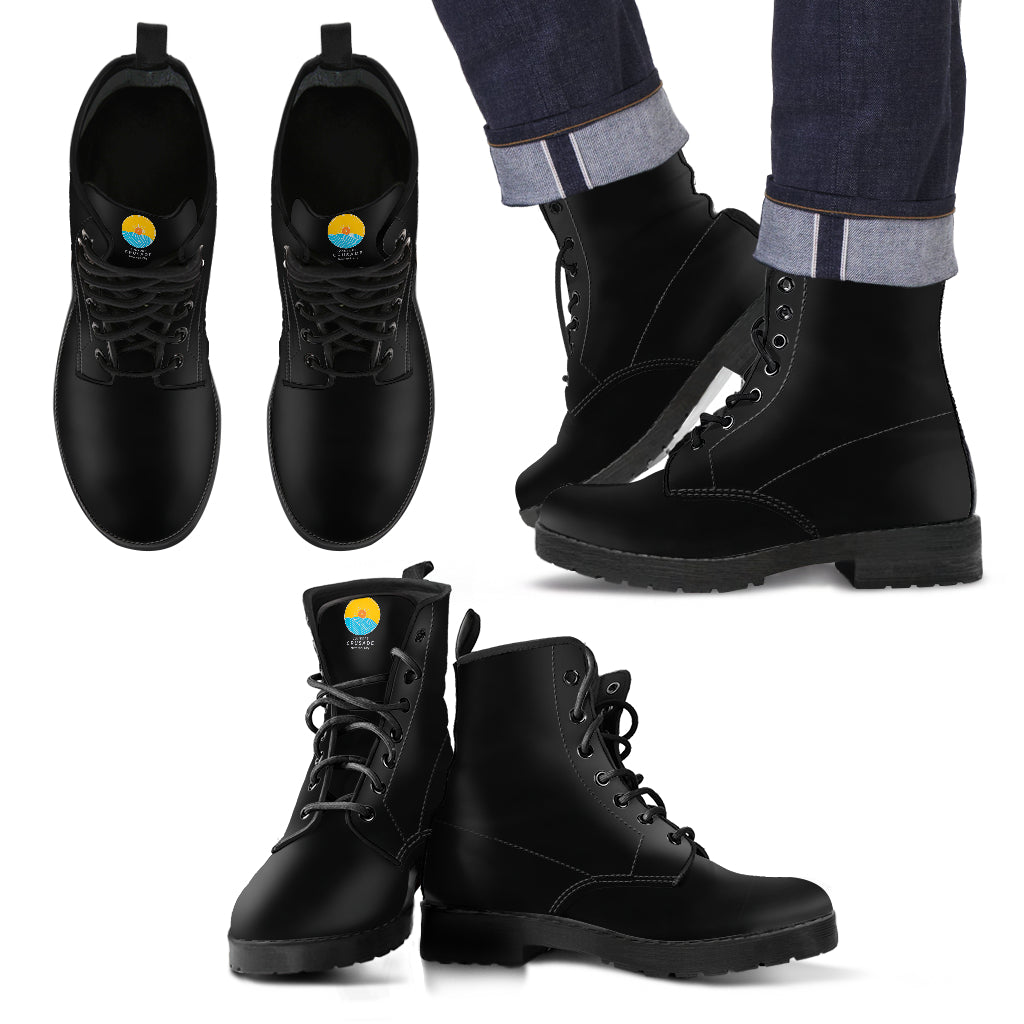 Black Leather Men's Boots - The Comfort Crusade Shopping Lounge