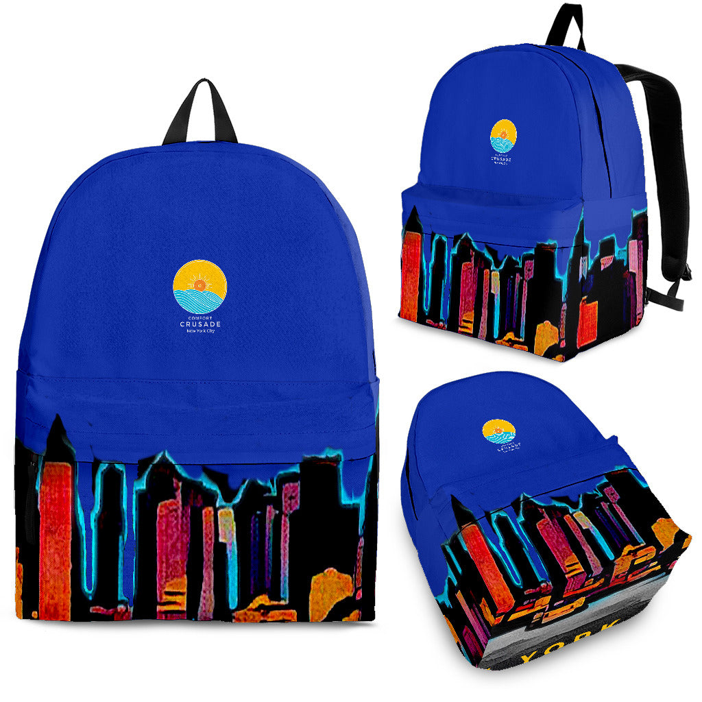 NY Twilight Sky Utility Backpack - The Comfort Crusade Shopping Lounge
