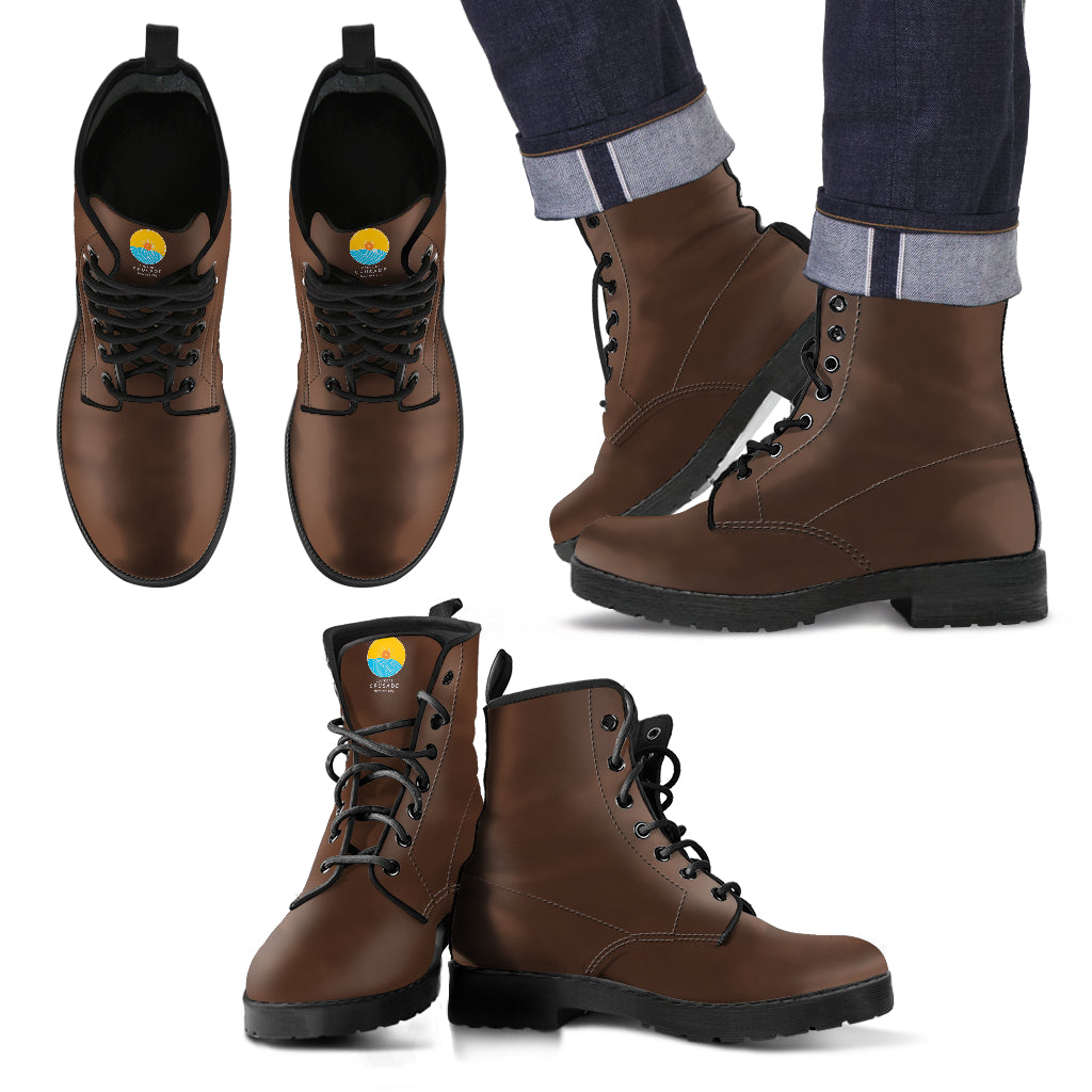 Brown Leather Men's Boots - The Comfort Crusade Shopping Lounge