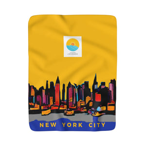 Comfort Crusade Ultracomfy New York Sherpa Fleece Blanket - The Comfort Crusade Shopping Lounge